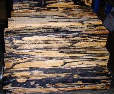 black and white ebony luthier wood