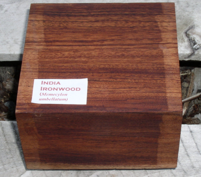 Appearance of a medium colored piece of India Ironwood